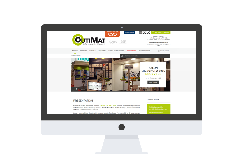 Outimat - site responsive